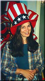 Debbie in Uncle Sam hat
