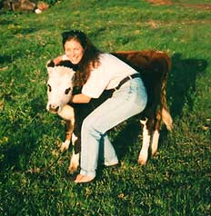 Deb and bovine friend