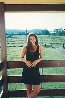 Deb at Jeff's farm